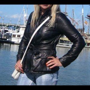 Anne Klein 100% Leather Coat XS